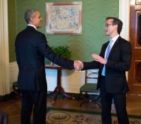 Mike Manatos & Barrack Obama